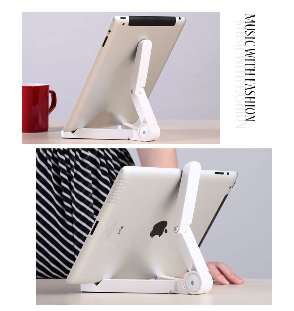 Mrs win Universal Foldable Phone Tablet Holder Desk Stand Adjustable Tripod Stability Support for iPhone iPad Pad Tablet Huawei 10