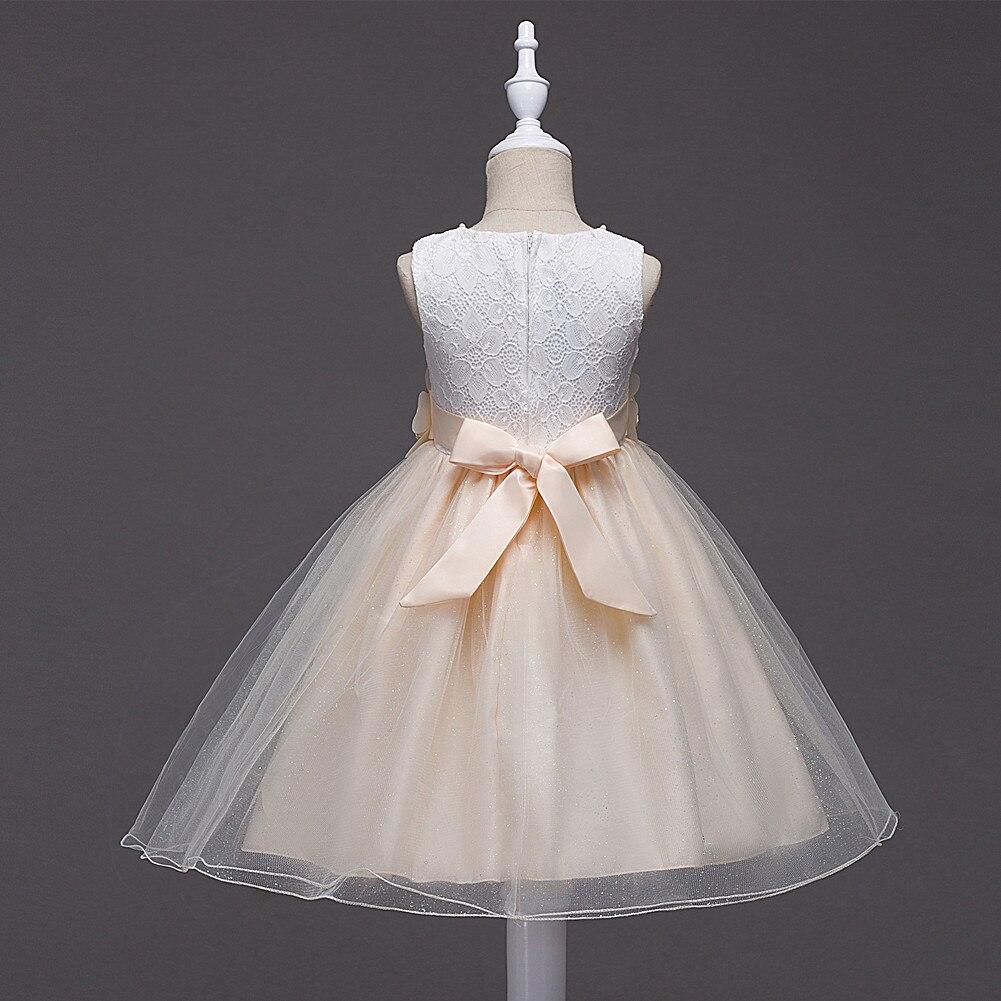 2017 Baby Girls Party Dresses Toddler Flower Costume Wedding Birthday Princess Lace Dresses Girls Kids Clothing Children Dress<br>