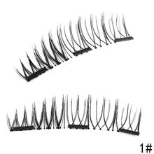 3 Magnet 3d Magnetic Eyelashes Natural Long Thick Hair False Eyelash Extension Magnetic Eye Lashes Makeup Kit Beauty Makeup Tool(China)