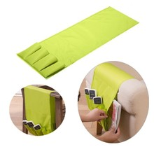Sofa Arm Rest Remote Control Holder Table Bag TV Remote Control Organizer 4 Pockets for Remotes Cell Phones Storage Pouch