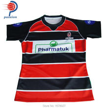 2017 Wholesale Factory Price Fashion Custom Sublimated Rugby Jersey(China)