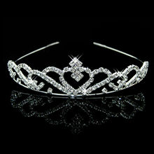 Joyme New Silver Crystal Rhinestone Pearls Hairbands For Women Bridal Wedding Hair Accessories Tiara Headbands Crown Hairwear