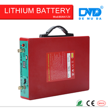 Deep cycle 2000 times Quick charge Long discharge rechargeable dry cell pack car battery 12v 24v 48v 80ah(China)