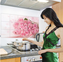 90cm*60cm Various Korea High-grade Aluminum Copper Waterproof and Oil Sticker Kitchen Wall Stickers For Home Decor