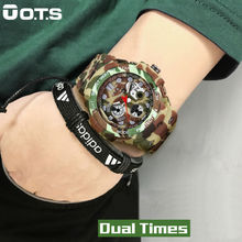 OTS New Arrival Men Sports Watches LED Digital-Watch Fashion Outdoor Waterproof Climbing Rubber Army Military Watch Reloj Hombre