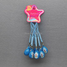 10X Blue Doraemon Cell Phone Strap JINGLE BELLS Dangle Charms New