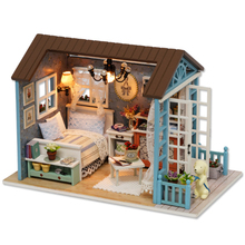 2017 New Gift Creative Miniature Doll House Model Building Kits Small Cute Wooden Furniture Toys Birthday Gifts-Forest Times(China)