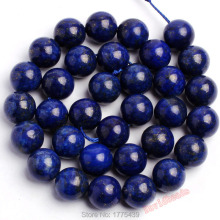 "Free Shipping Wholesale Natural Lapis Lazuli loose stone Round Beads 4 6 8 10 12 14mm 15.5"" Pick Size"