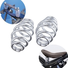 "3"" Chrome Barrel Coiled Solo Seat Springs For Harley Chopper Bobber Motorcycle(China)"