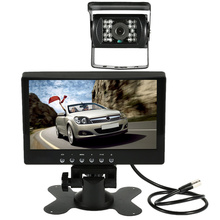 7 Inch Large TFT LCD Monitor Wireless Video Transmit Car Rear View Backup Reverse System for Bus Truck + LED Night Vision Camera(China)