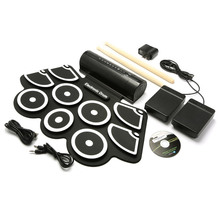 KONIX MD760 9 Pad Silicon Electronic Roll Up Drum Support MIDI Game(China)