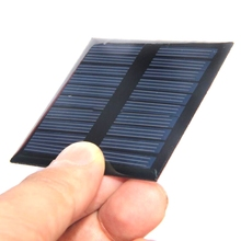 Polycrystalline 0.45W 5V Small Solar Cell Module Epoxy DIY Solar Panel Charger System For 3.7V Battery LED Light 60*60MM 2pcs