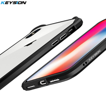 KEYSION Phone Bumper Case for iPhone X 10 Luxury Aluminum Metal and soft TPU Shockproof Bumper cover for iPhone X for iPhone 10(China)