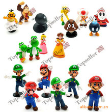 Hot Sale! Brand New 2016 Cute 18pcs a Set Mario Monster Mini action figure Toys 4-7cm Cartoon Xmas Kids Gift(China)