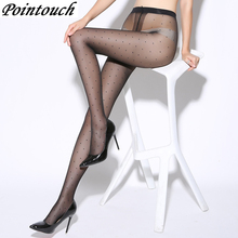 Buy POINTOUCH Sexy Summer Thin Tights Black Dot Stretchy Stockings High Elastic Prevent Hook Women Seamless Pantyhose Medias Girl