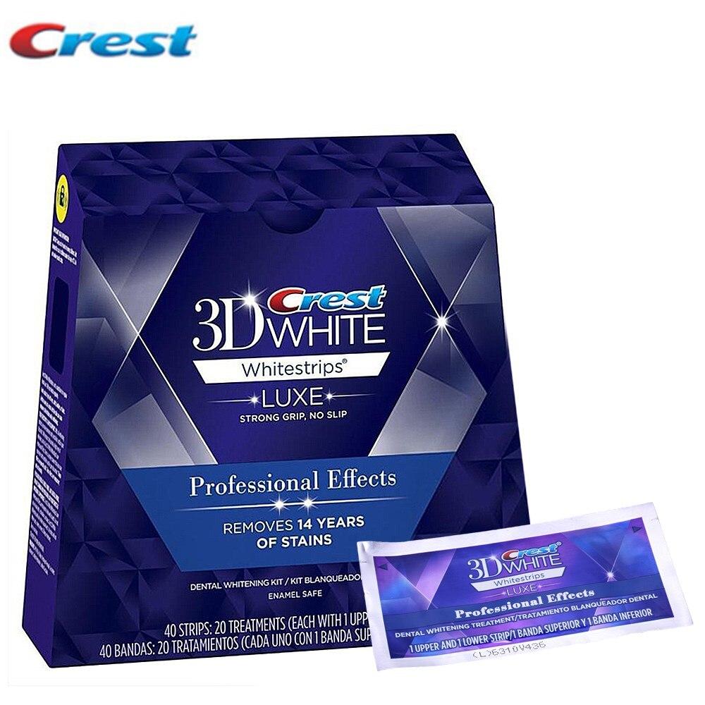 20 Pouch/Box Crest 3D Whitestrips Professional Effects Teeth Bleaching Gel Oral Hygiene Teeth Whitening Strips<br>