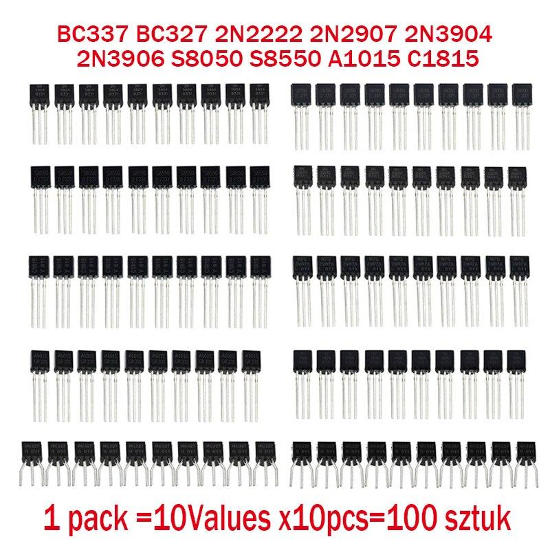 S8550 20Pcs Transistor A1015 BC327 2N2907 2N3904 2N3906 C1815 Stock 2018