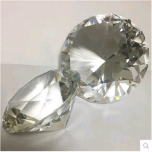 Wholesale 80mm 80pcs Glass Diamond Crystal Diamond Paperweight Wedding Gift Crystal Souvenir Multi-Faceted(China)