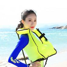THENICE Portable Adult Inflatable Life Vest Fishing Swim Vest Water Safety Life Jacket Sports Swimming Drifting Vest(China)