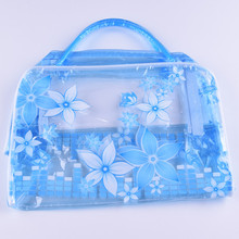 Transparent Waterproof Makeup Cosmetic Bag Toiletry Bathing Pouch High-capacity Storage PVC Travel Bag(China)