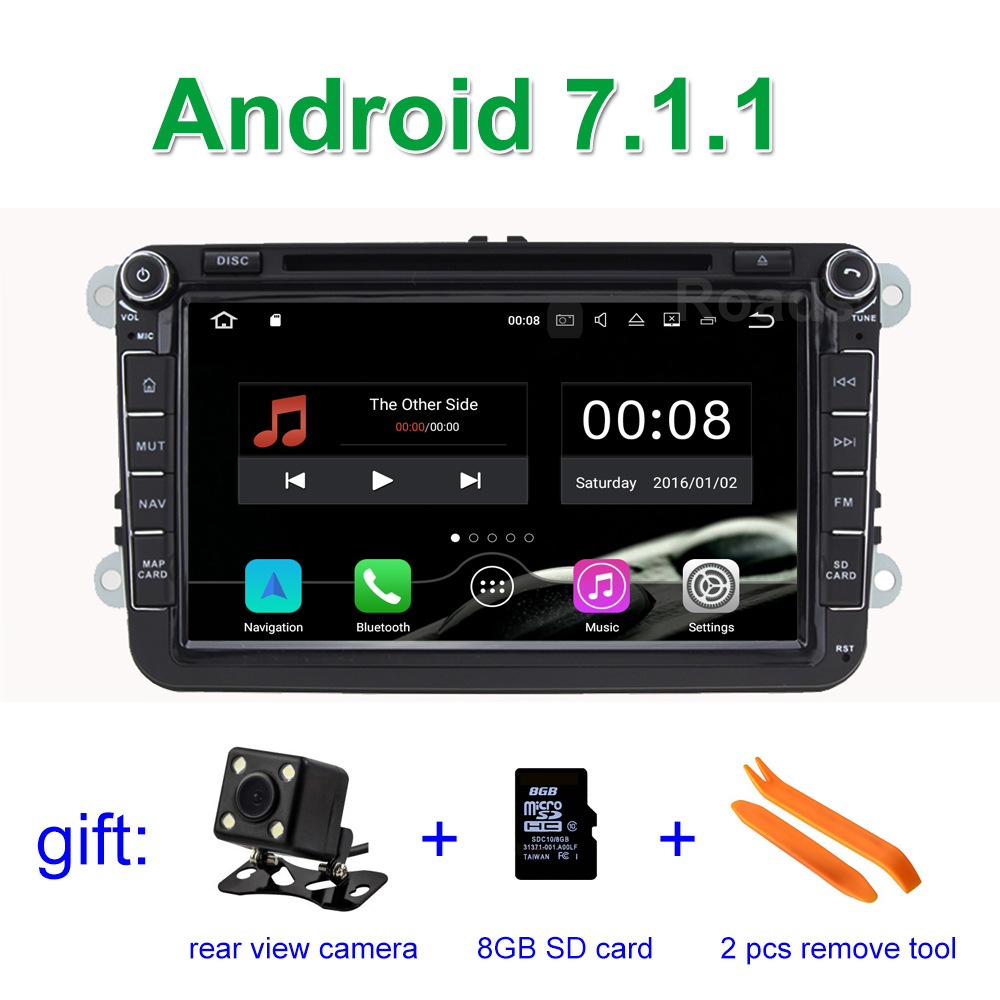 2GB RAM Android 7.1 Car DVD Player for Volkswagen VW Golf 5 6 Passat B5 B6 B7 CC Jetta Touran Tiguan with BT Wifi Radio GPS(China)