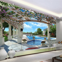 photo wallpaper flash silver cloth 3D stereoscopic bedroom living room TV background wall extending space large mural wallpaper