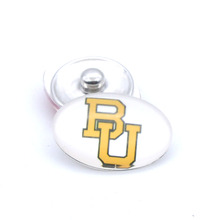 Snap Button 18mmX25mm NCAA Baylor Bears Charms Interchangeable Buttons Bracelet Basketball Fans Gift Paty Birthday(China)