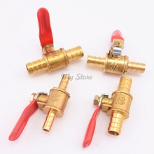6mm-12mm Hose Barb Inline Brass Water Oil Air Gas Fuel Line Shutoff Ball Valve Pipe Fittings