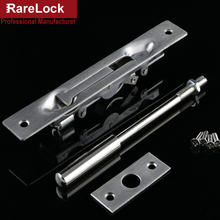 Rarelock Christmas Supplies Stainless Fire-proof Expressway Door Hidden Latch Bolt 4 Size with pole Offcie Home Security DIY