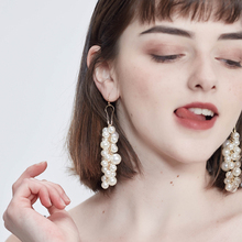 HaveFlowery Elegant Simulated-pearl Style Woman Drop Earrings,Street Simple Feminine Taste Long Eardrop,Joker Ear Jewelry,K3(China)
