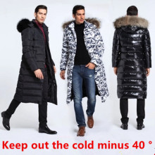 2017 Rushed Free Shipping In On The New Man Down Coat Lengthened Thickening Heavy Hair Big Yards Really Led  Clothes