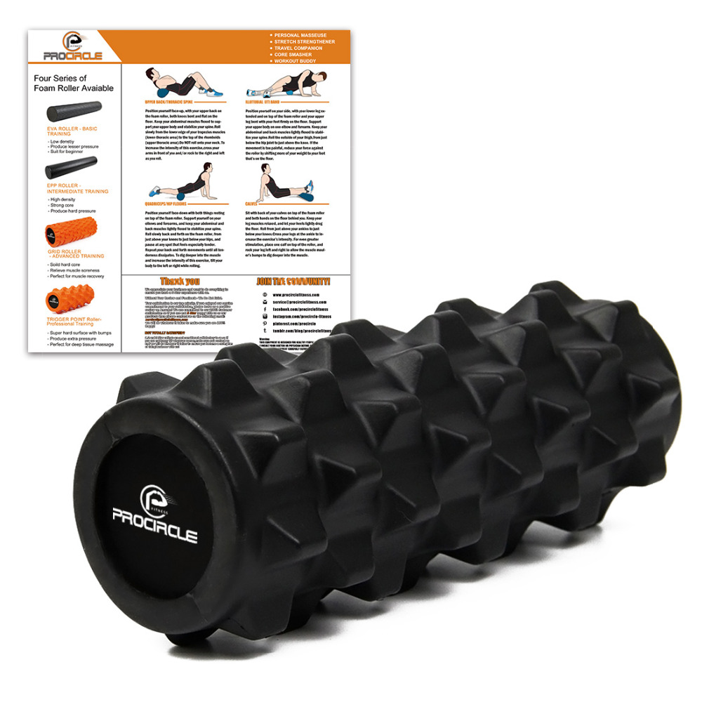 ProCircle 12.5 Foam Roller Deep Tissue Massage Foam Roller - Extra Firm Yoga Pilates Fitness Gym Physiotherapy Rehabilitation<br><br>Aliexpress