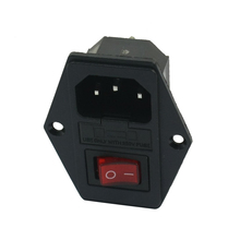 Red light concentrator switch IEC 320 C 14 outlet AC 250 V 10 A(China)