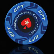 EPT Poker Chips 9pcs/set Hot Design 10G Ceramic Playing Cards Poker Game Chips For Entertainment Gambling