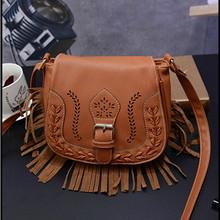 Hollow Out Women Crossbody Bag Vintage Saddle bag women min Messenger small Shoulder Bag Ladies Purse tassel Handbag bolso mujer