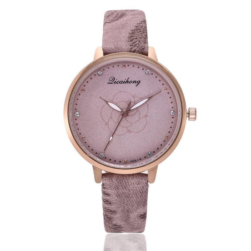 High Quality women fashion casual watch luxury dress ladies Leather Band Analog Quartz Round Wrist Watch clock bracelet M21 (1)