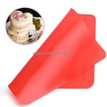 New 1pc Red Heart Shaped Baking Mold Silicone Macaron Mat Pastry Sheet Muffin Tray Reusable DIY(China)