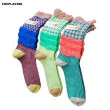 [COSPLACOOL]Fashion cute socks breathable absorbent cotton socks women causal medium thickness calcetines of the season meias(China)