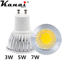 8pcs GU10 GU5.3 MR16 Lampada LED Lamp 220V 110V 3W 5W 7W COB LED Spotlight Spot Light Bulbs Ampoule Luz Chandelier