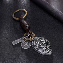 Fashion leather superhero mask pendant keychain trinket Car keys chain ring holder for women men Bag purse jewelry accessories