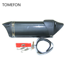 TOMEFON 35.5mm akrapovic exhaust yoshimura escape muffler for scooter 125cc 80cc GY6 motor FORCE PIAGO with DB killer and decal