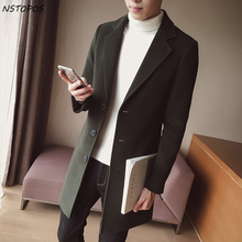 Man Classic Fashion Trench Coats 2017 Black Red Army 5xl Men Long Trench Slim Fit Overcoat Men Coats Fashion Trench Outerwear(China)