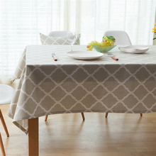2017 Concise Solid Color & Ripple Pattern Tablecloth Soft And Dustproof Cotton & Linen Table Cloth Coffee Cabinet Or Oven Cover
