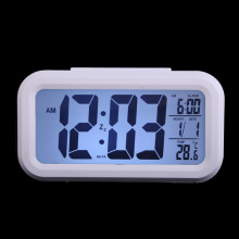 High Quality Digital  Alarm Clocks Snooze Clock LED Backlight Time Calendar Thermometer Big Screen Luminous Table Clock  BS