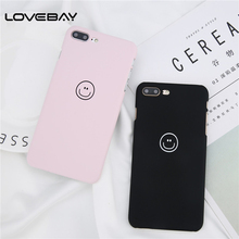 Buy Lovebay Phone Case iPhone X 8 7 6 6s Plus Fashion Lovely Cartoon Smile Face Ultra thin Hard PC Back Cover Cases iPhone 8 for $1.22 in AliExpress store