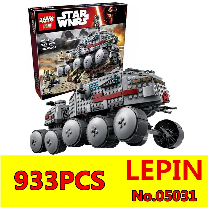 Star Wars LEPIN 933Pcs 05031 Clone Turbo Tank Kids Educational Building Blocks Compatible with 75151 Children Boys Toys Gift<br>