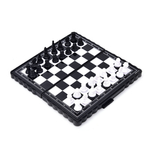 Portable Folding Magnetic Travel Plastic Chess Board Set with Pieces Games Accessories
