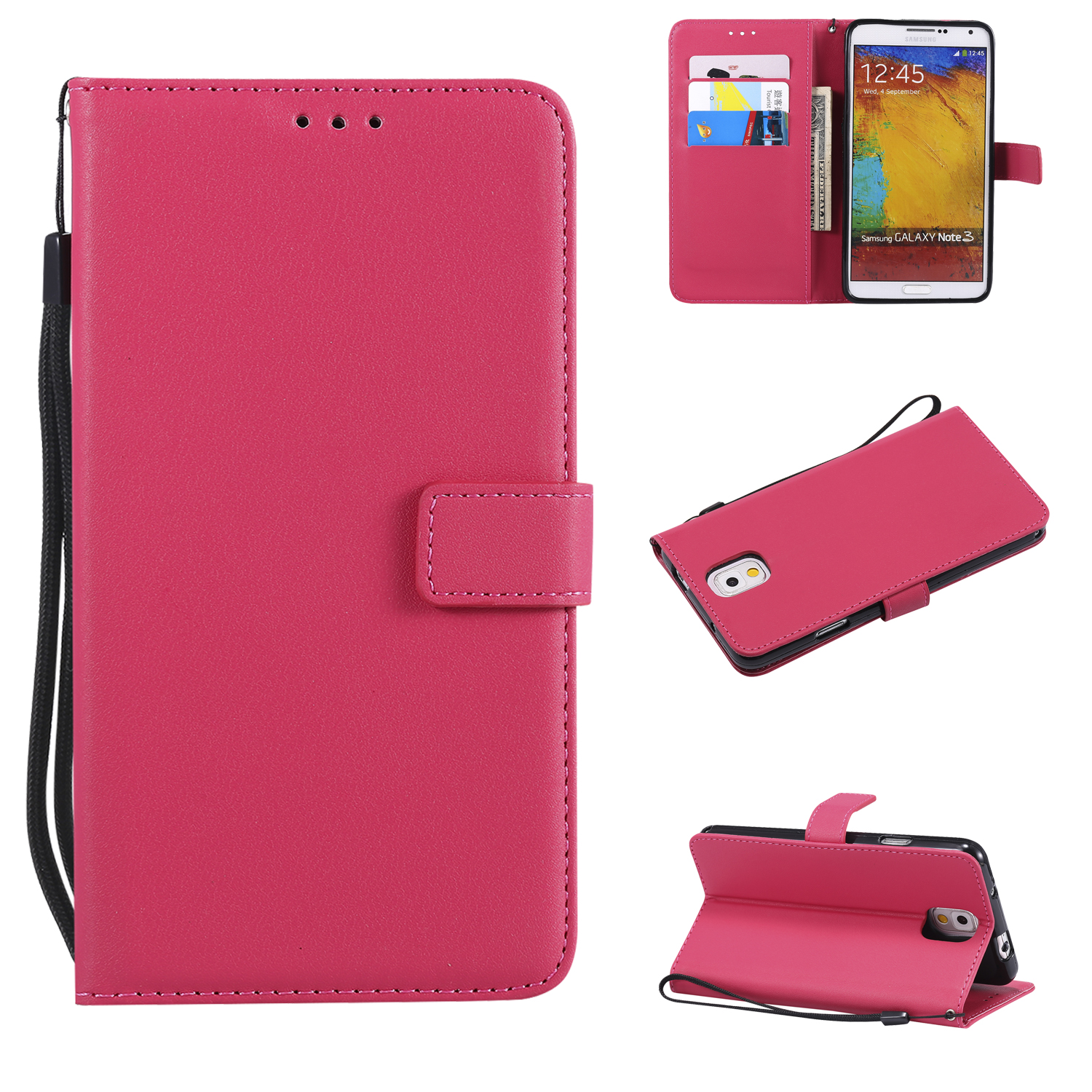 Flip Leather Case for Samsung Galaxy Note 3 Cover Note3 SM N900 SM-N900 N9000 SM-N9000Q N9002 SM-N9002 N9005 SM-N9005 Phone Bags