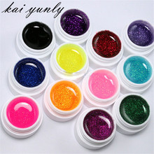12 Color Glitter UV Gel Builder False Tips Acrylic Nail Art Polish Kit Set Accessories Beauty Makeup Tool Oct 1(China)
