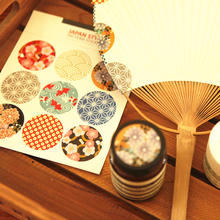 180pcs Japanese Style Kraft Paper Sticker Labels Seal Envelope Packaging Gift Box Wrapping Soap Craft Baking Party Decoration